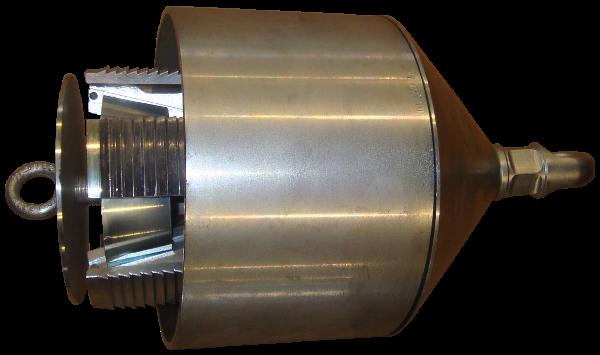 HDD Horizontal Spülbohranlagen > Spreizdorne, Ziehköpfe (hohe Zugkraft) > Spreizdorn 200