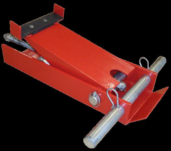 Rammen > Auflagebock > i>Auflage für die Ramme hinter dem Stahlrohr</li>